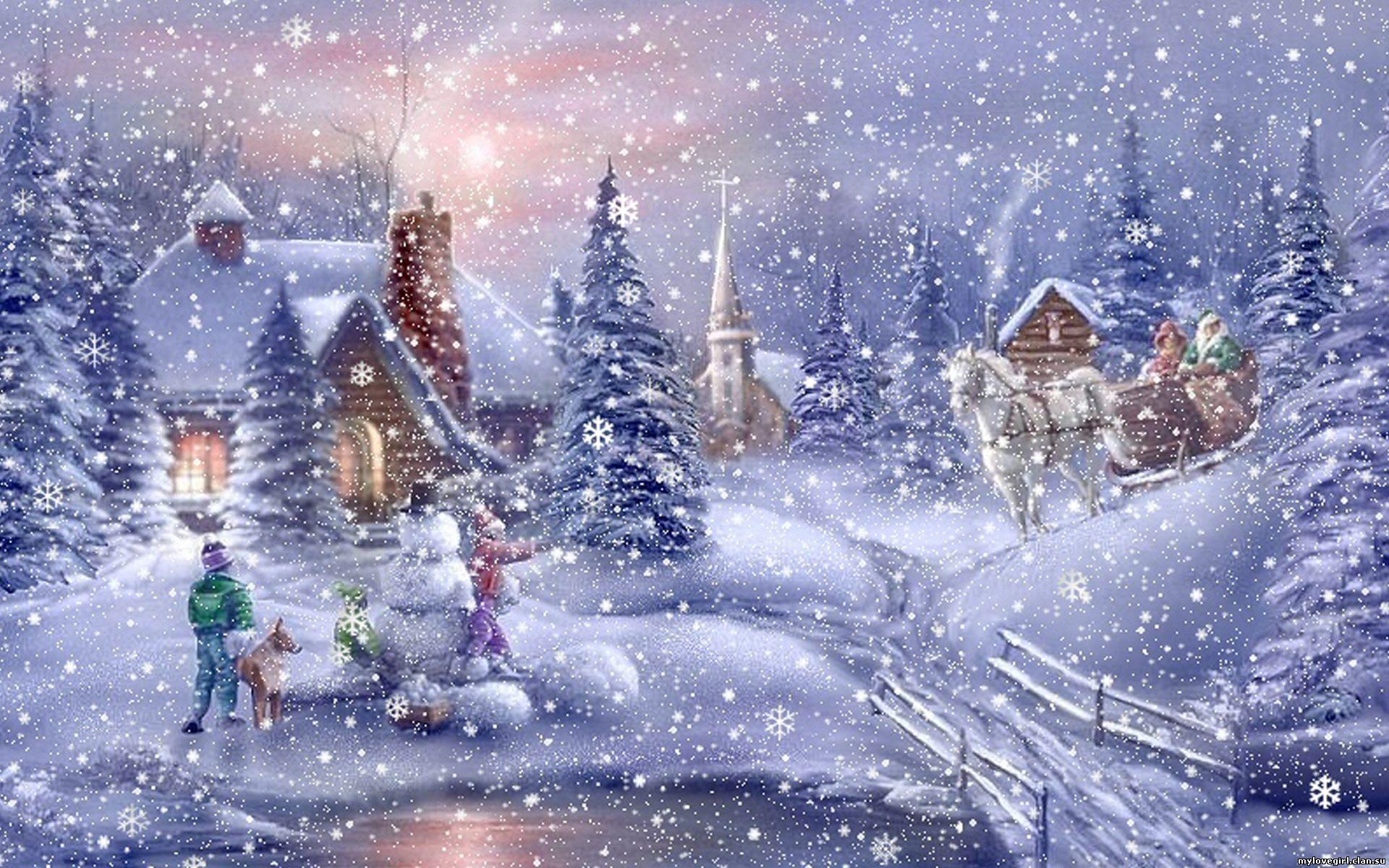 Обои зима новый год на рабочий стол